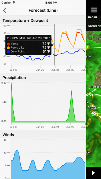 Screenshot for NOAA Radar Plus in United States App Store