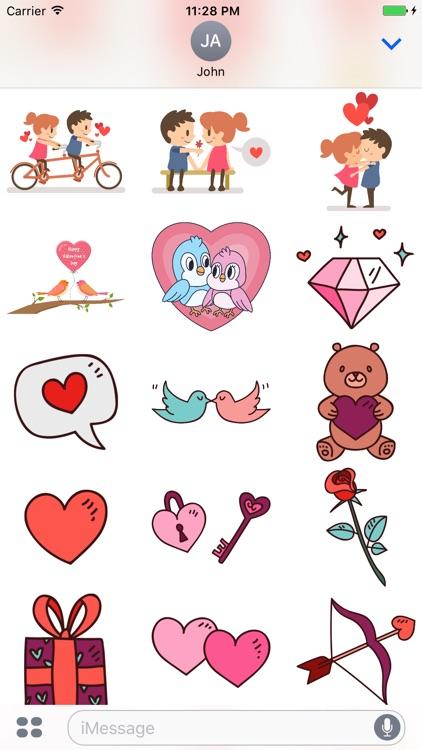 Happy Valentine Day - Stickers screenshot-3