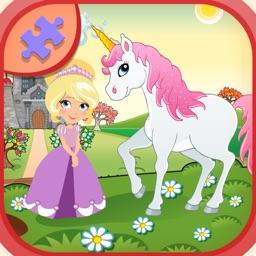 Princess And Pink horse Jigsaw Puzzles Games