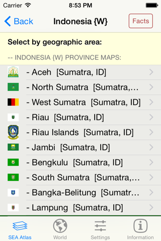 mapQWIK sea - South-East-Asia  Zoomable Atlas - náhled