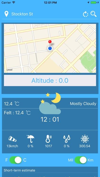 Altimeter & Weather forecast !