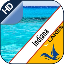 Indiana Lakes gps offline nautical map for boaters