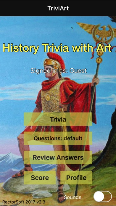 TriviArt - History Trivia with Art Screenshot