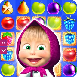 Masha and the bear: Match 3 Cooking Jam Candy Game