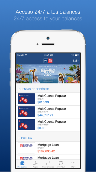 Mi Banco Mobile Screenshot