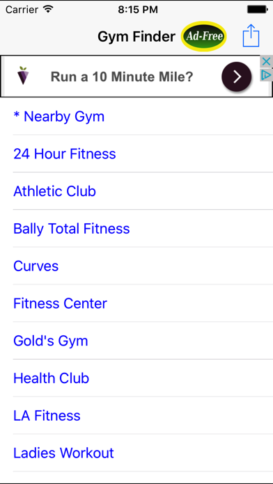 Gym Finder: Find Fitness Workout Gyms Near Me screenshot one