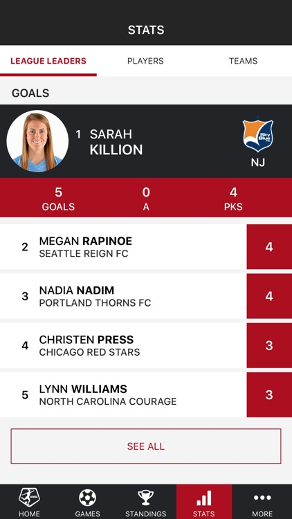 NWSL - National Women's Soccer League Official App screenshot-3