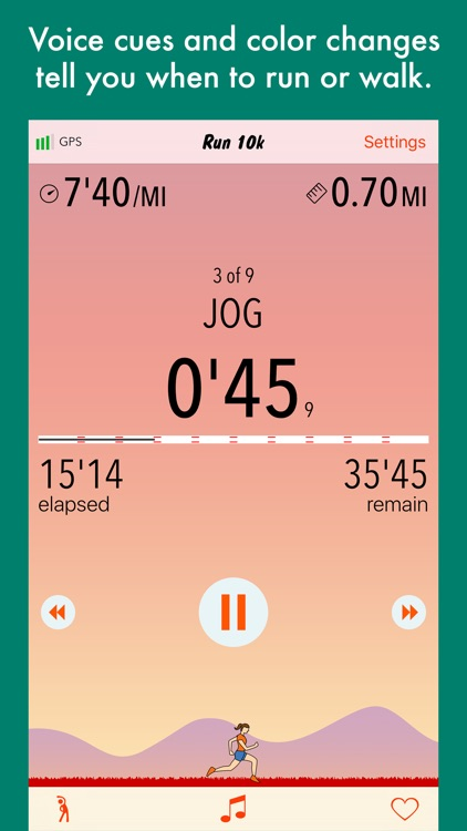 Run 10k - interval training program + stretches screenshot-3