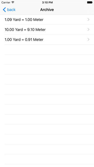 Yard Meter Screenshot