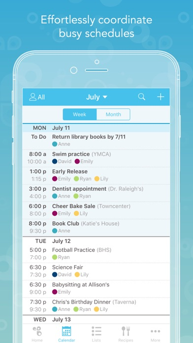 Cozi - Shared Calendar, Reminders, Grocery List app image