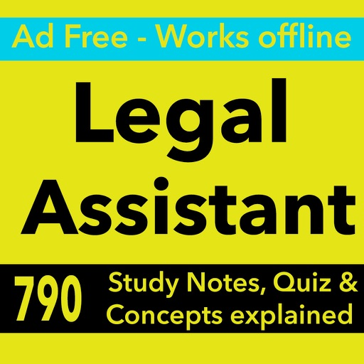 Legal Assistant Exam Review App for Self Learning