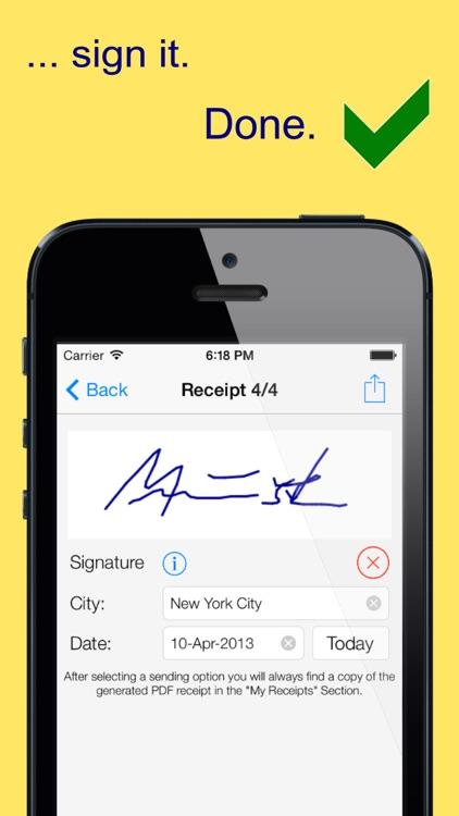 mReceipt Lite - The Receipt App screenshot-3