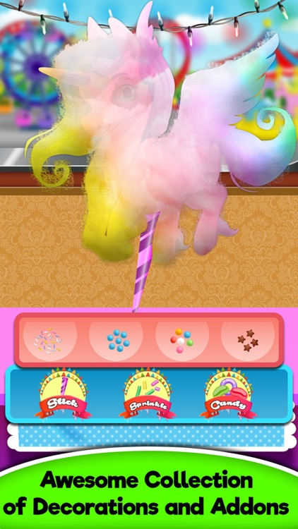 Rainbow Unicorn Glowing Cotton Candy! Fair Food screenshot-3