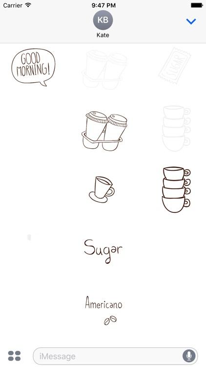 Animated Cute Coffee Stickers screenshot-4