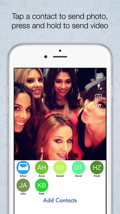 Quikchat Photo & Video camera Messenger screenshot-3