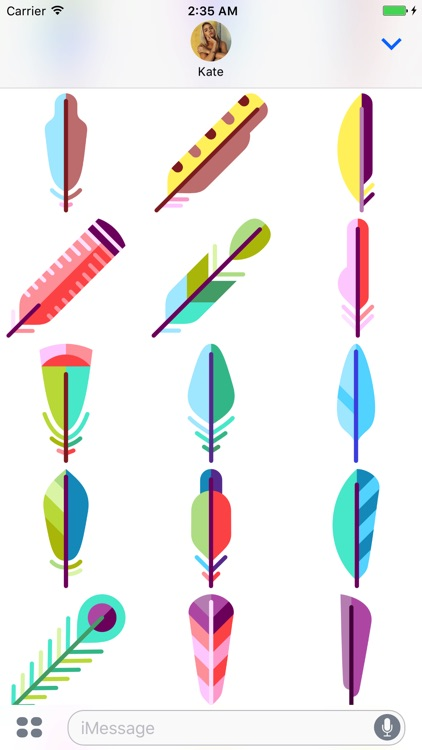Feather Stickers