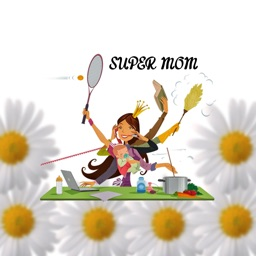 Super Mom Illustration Stickers
