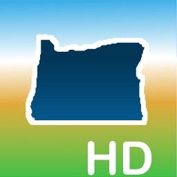 Aqua Map Oregon OR Lakes HD - GPS Nautical Charts