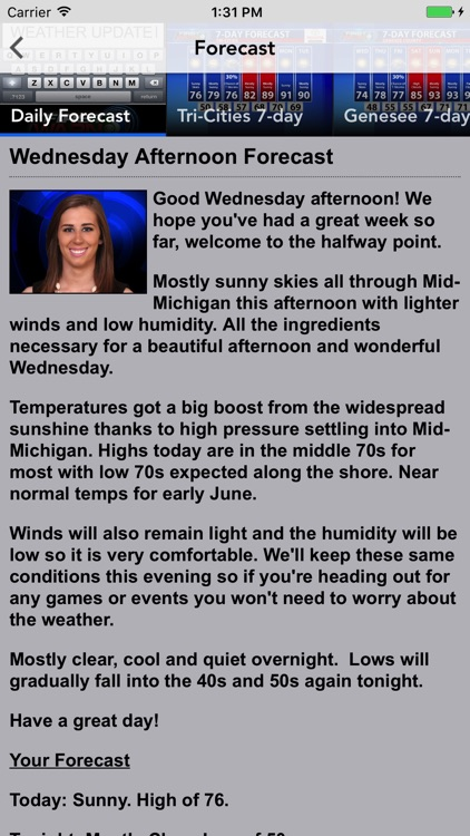 WNEM TV5 Weather screenshot-4