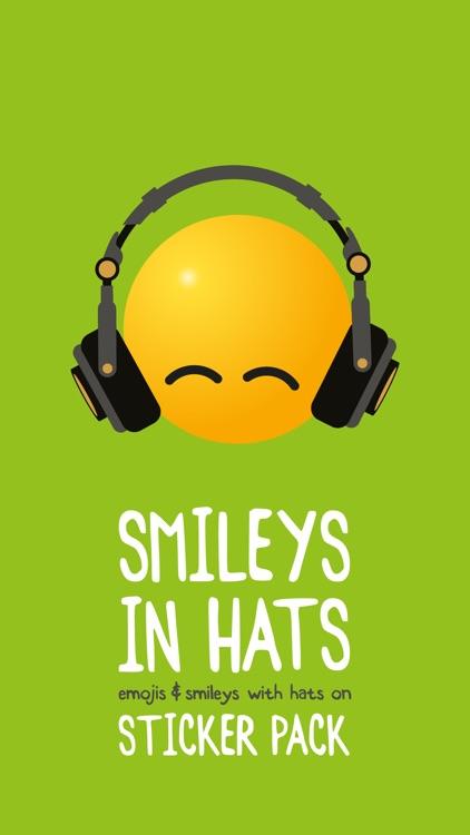 Smileys in Hats Sticker Pack
