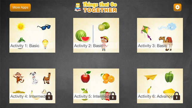montessori things that go together matching game on the app store