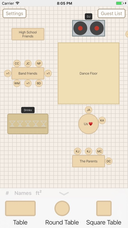 Seat Puzzle for Weddings and Professionals