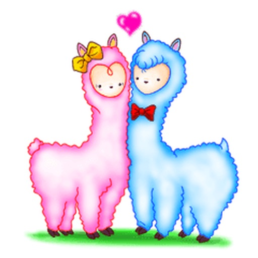 Lovely Alpaca Couple Sticker