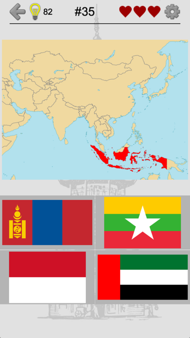 Asian Countries & Middle East - Flags and Capitals