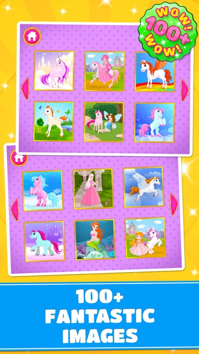 Cute Ponies & Unicorns Puzzles - Logic Game PRO screenshot two