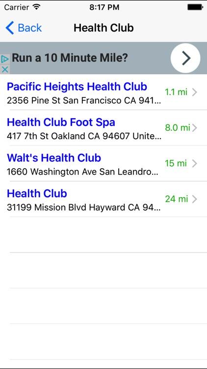 Gym Finder: Find Fitness Workout Gyms Near Me screenshot-3
