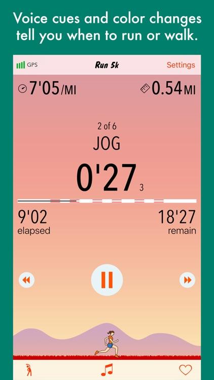 Run 5k - interval training program + stretches screenshot-3