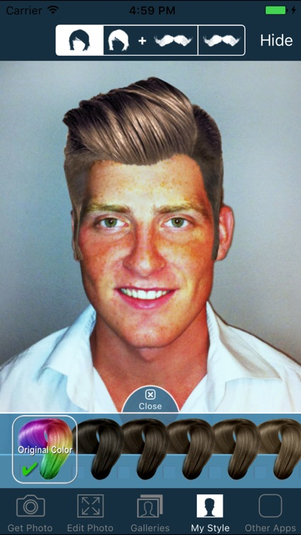 Hair and Beard Styles - Try On Hairstyles for Men screenshot-3