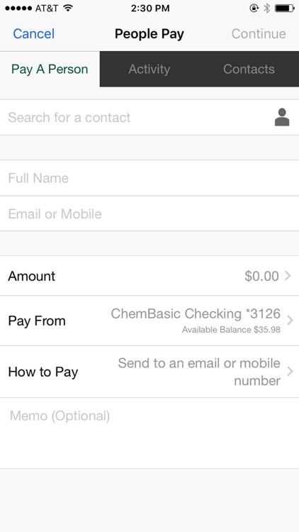 Chem Bank Mobile screenshot-3
