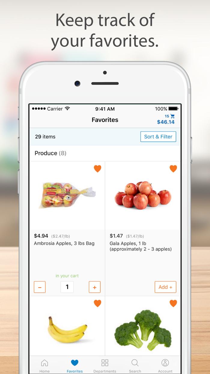 Walmart Grocery Screenshot