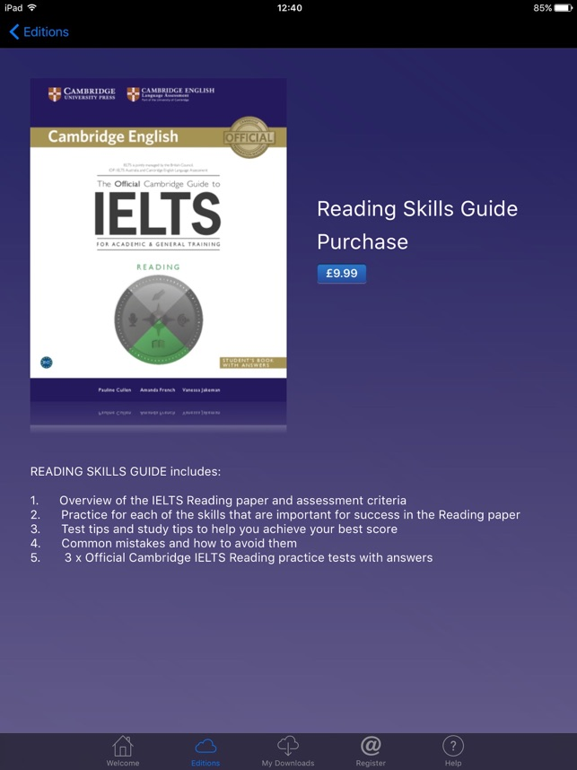 Official Cambridge Guide IELTS on the App Store