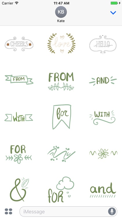 Animated Catchword Stickers