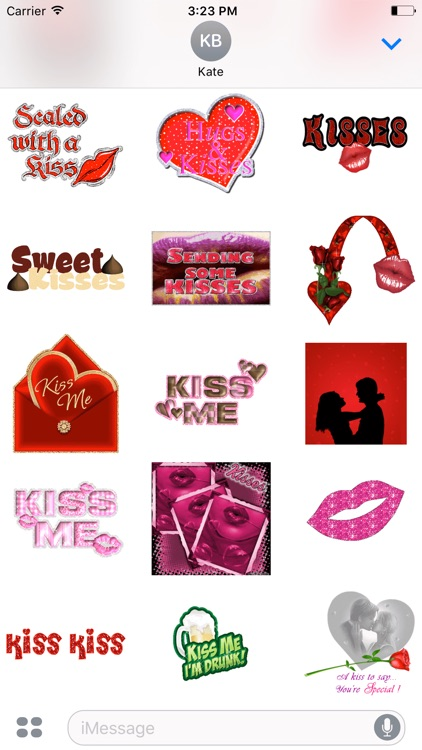 Animated Love & Kiss Stickers
