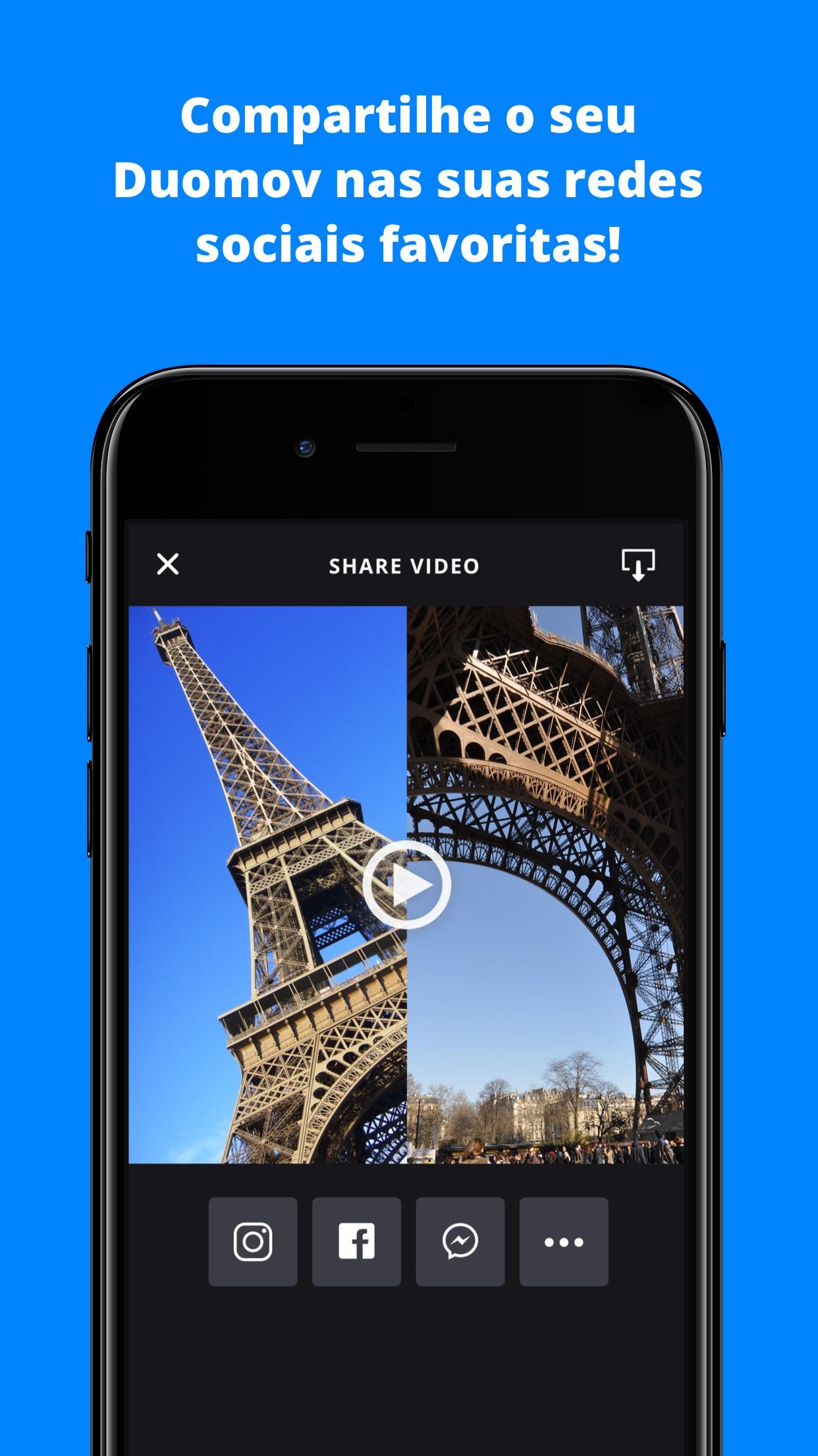 Screenshot do app Duomov: crie vídeos com amigos ao seu redor