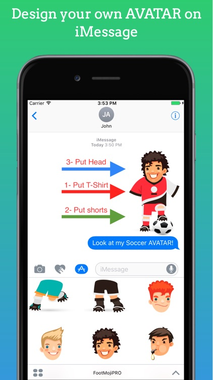FootMoji PRO - Soccer Emoji & Stickers screenshot-1