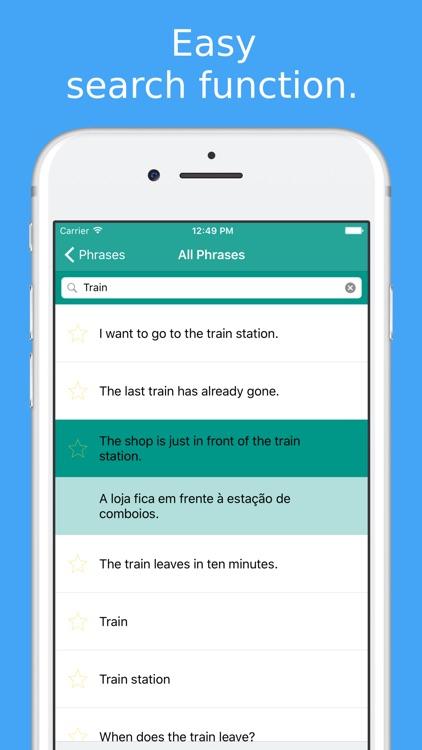 Simply Learn Portuguese - Travel Phrasebook screenshot-4