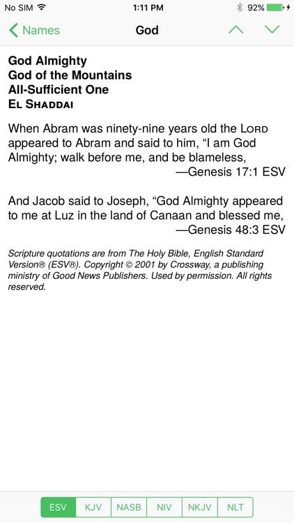 Bible God Names