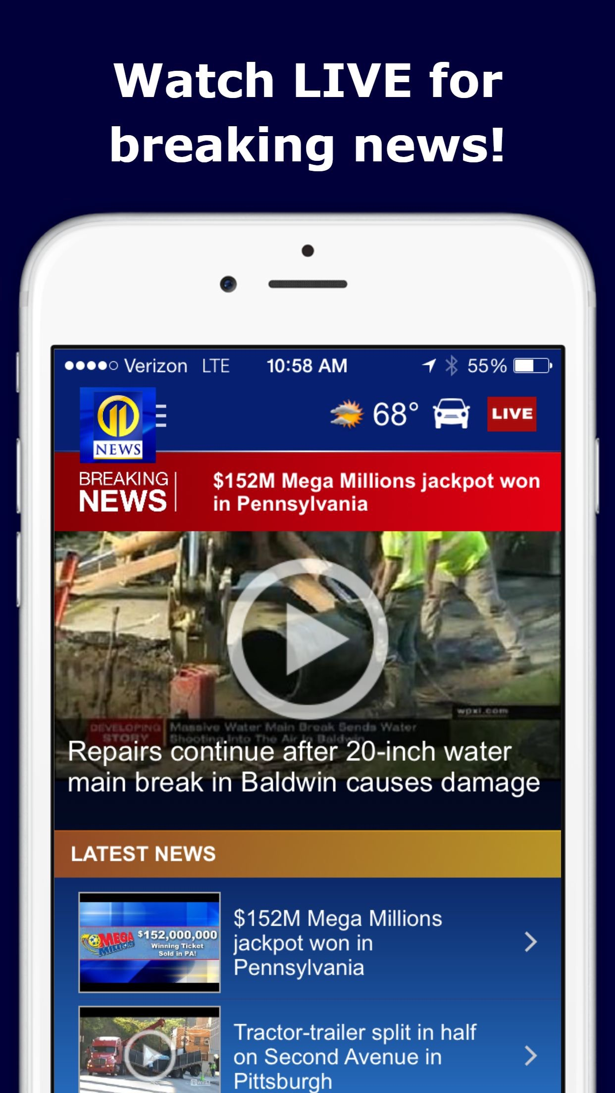 WPXI Channel 11 – Pittsburgh News, Weather, Video Screenshot