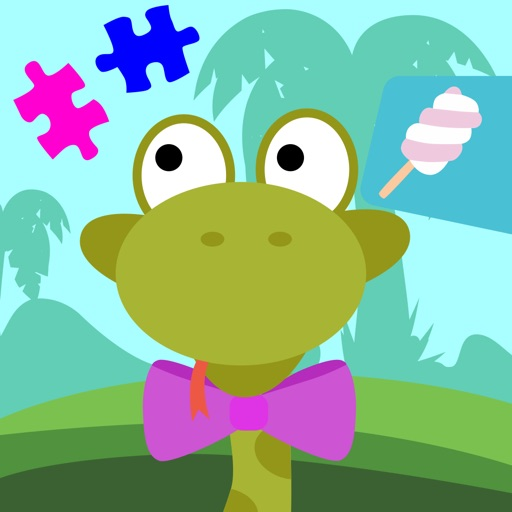 Fun Jungle Animals - Puzzles and Stickers for Kids