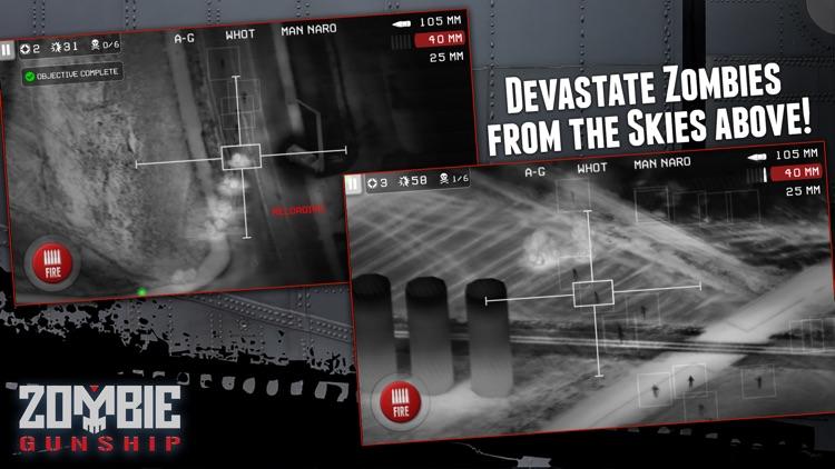Zombie Gunship: Gun Down Zombies screenshot-3