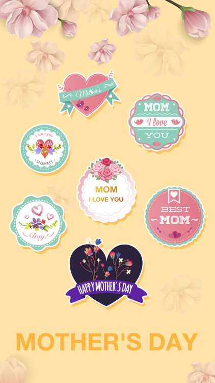 Cute Mother's Day Sticker - Stickers for iMessage