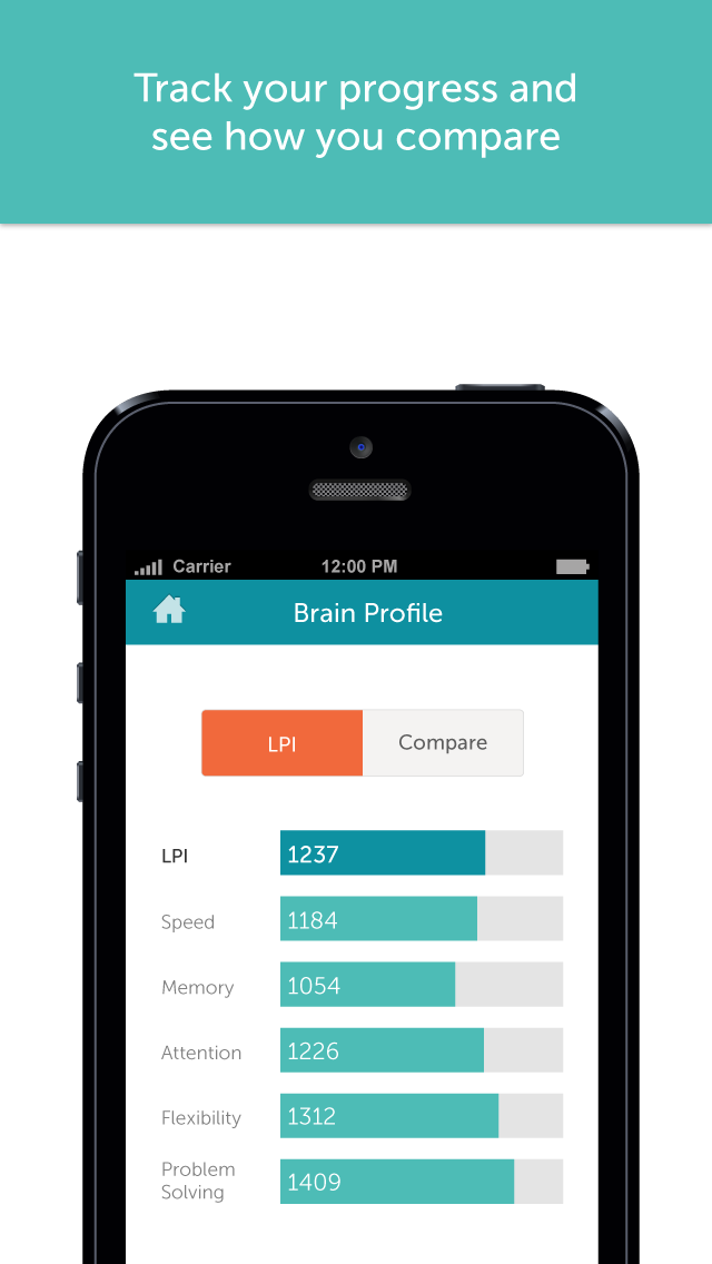 Screenshot for Lumosity – тренировка мозга in Russian Federation App Store