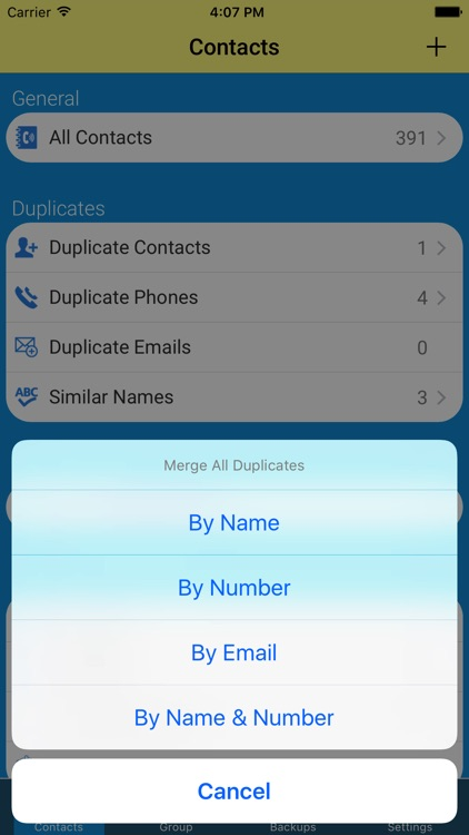Contacts Backup-delete & merge duplicate contacts