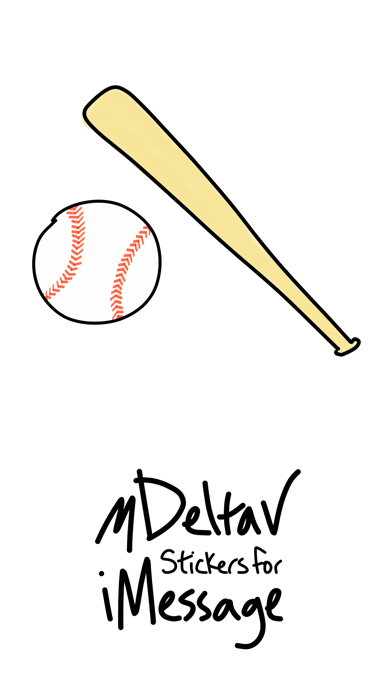 Baseball sticker, sport game stickers for iMessage screenshot one