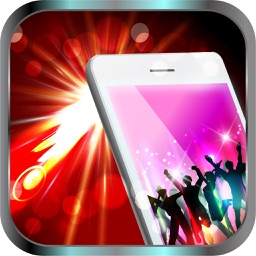 Night club strobe light-synced with your music
