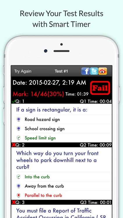 California DMV Permit Test – Driving Written Exam screenshot-4